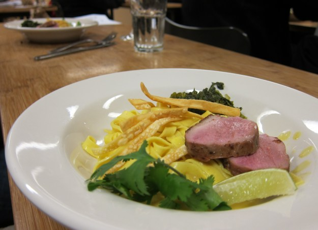Khao Soy Noodles with Seared Duck, Pickled Mustard Greens, and ...