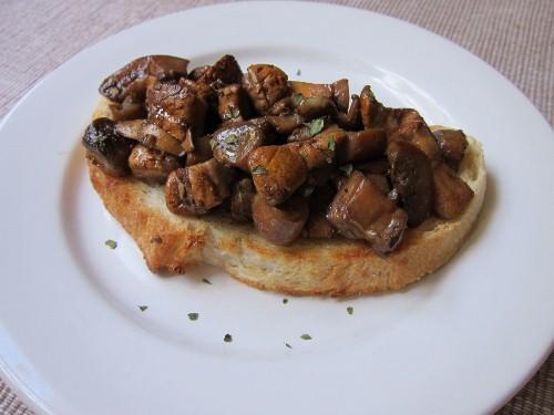 Sauteed Mushrooms on Toast