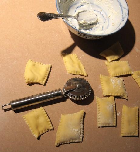 Freshly made ravioli