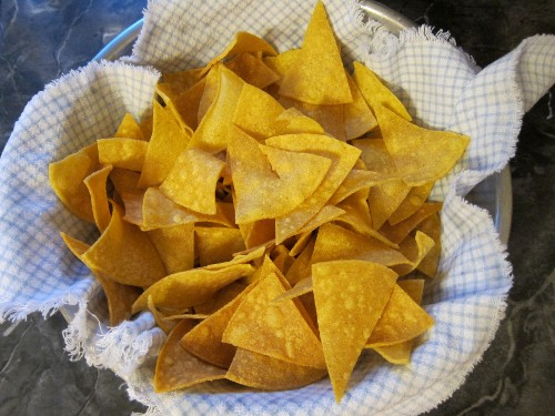 Tortilla chips in bowl